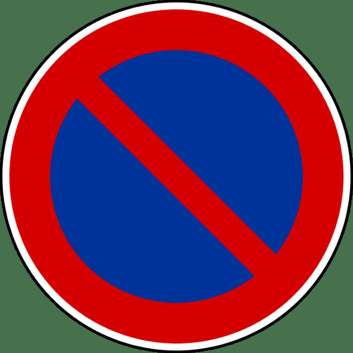 Arr t et stationnement code en ligne gratuit cir avron - Panneau de stationnement interdit ...